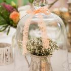 Bell jars with Babies breath