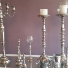 SILVER CANDELABRAS & CANDLE HOLDERS