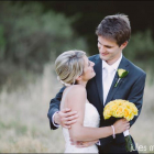 Yellow roses bridal bouquet