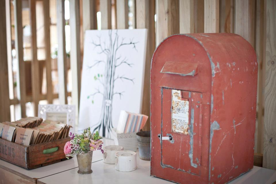 Red vintage post box