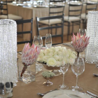 Crystal beaded candle holders