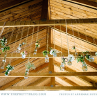 Overhanging flowers at ceremony