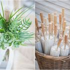 Succulent posies and hand parasols