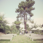 Ceremony area on the lawn
