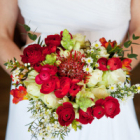 Bright red happy bouquet