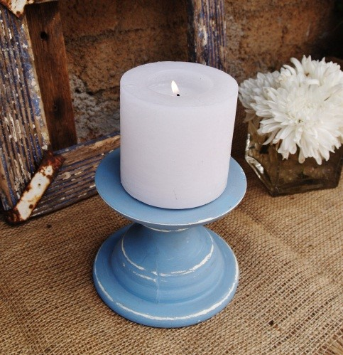 Blue short candle holder.jpg