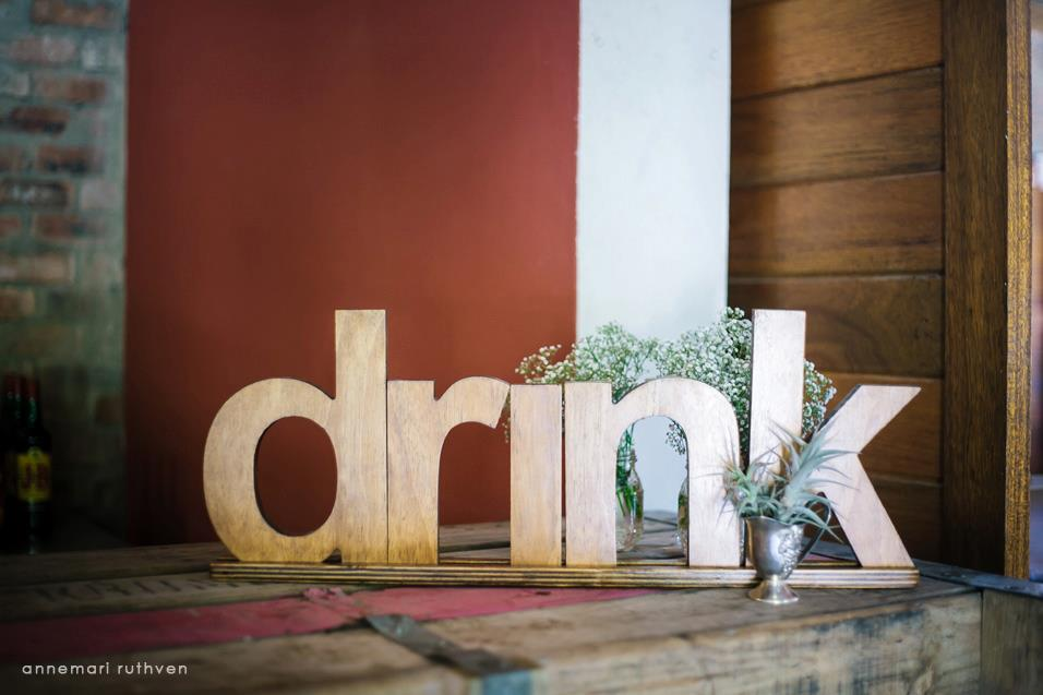 Wooden lettering sign