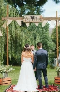 Rustic personalized arch