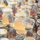 Honey jars from the Bride and Groom